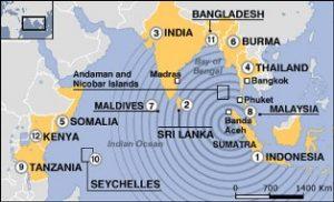 sunami map