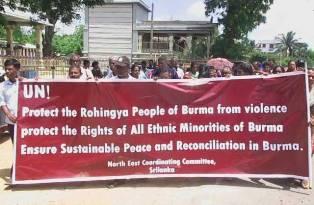 myanmar Protes jaffna